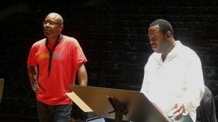 Denys Baptiste rehearsal