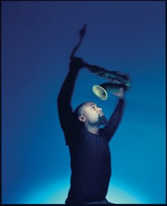 Denys Baptiste-SaxRaised-blue