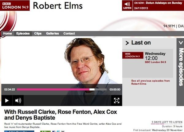 BBC Robert Elms-Denys Baptiste interview
