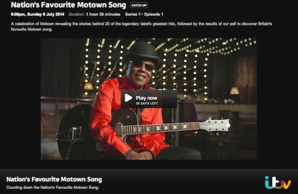 ITV Nation's Favourite Motown Song